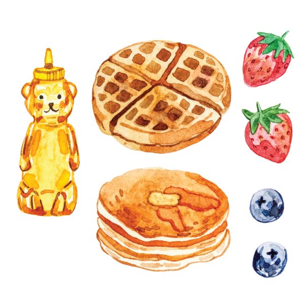 Artist Series Stickers: Waffles, Pancakes, Honey (STC-510)