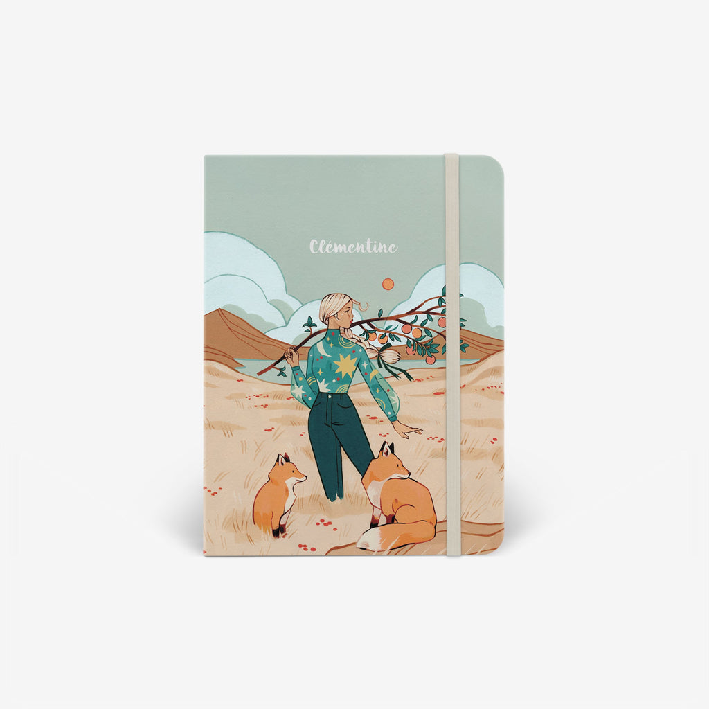 Autumn Foxes Threadbound Notebook