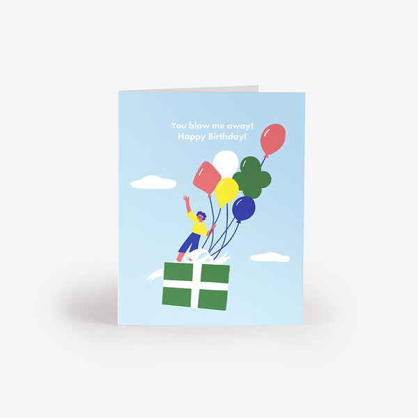 Balloon Wishes Greeting Card