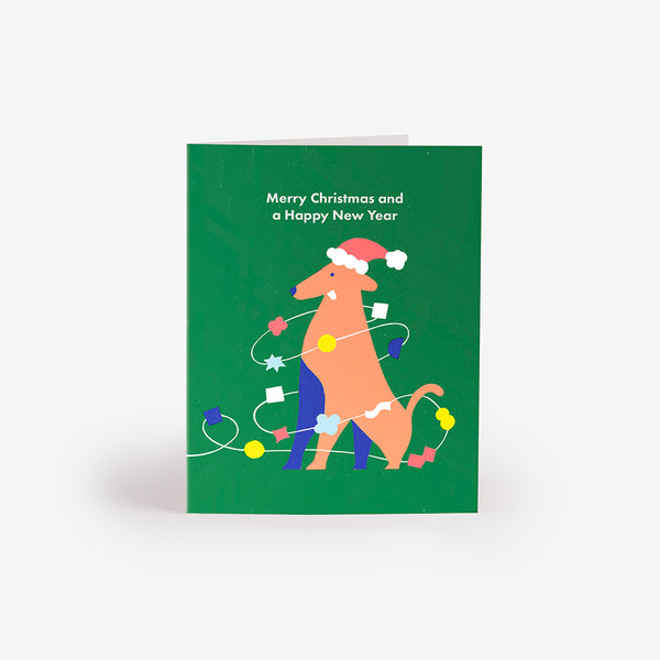 Santa's Pup Greeting Card
