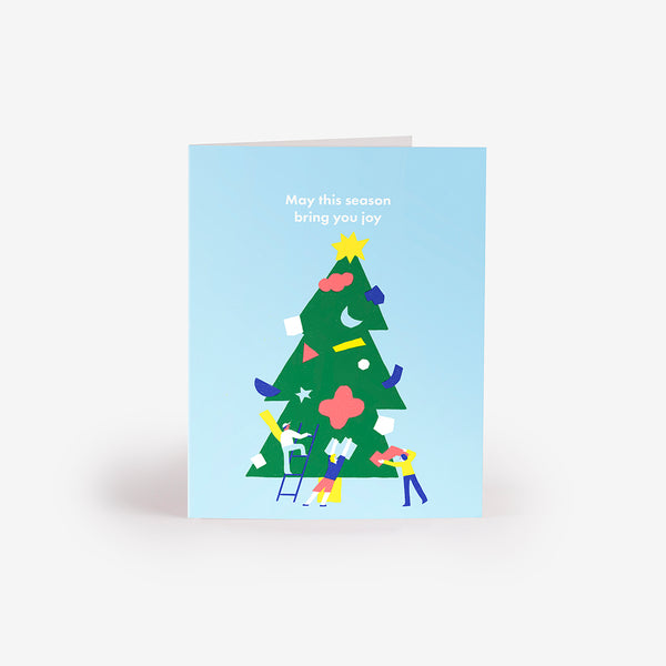 Treetop Star Greeting Card
