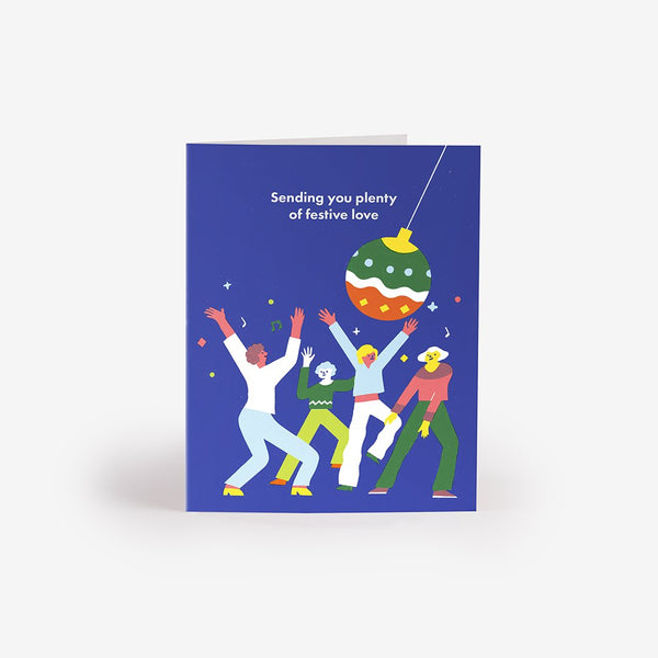 Disco Baubles Greeting Card