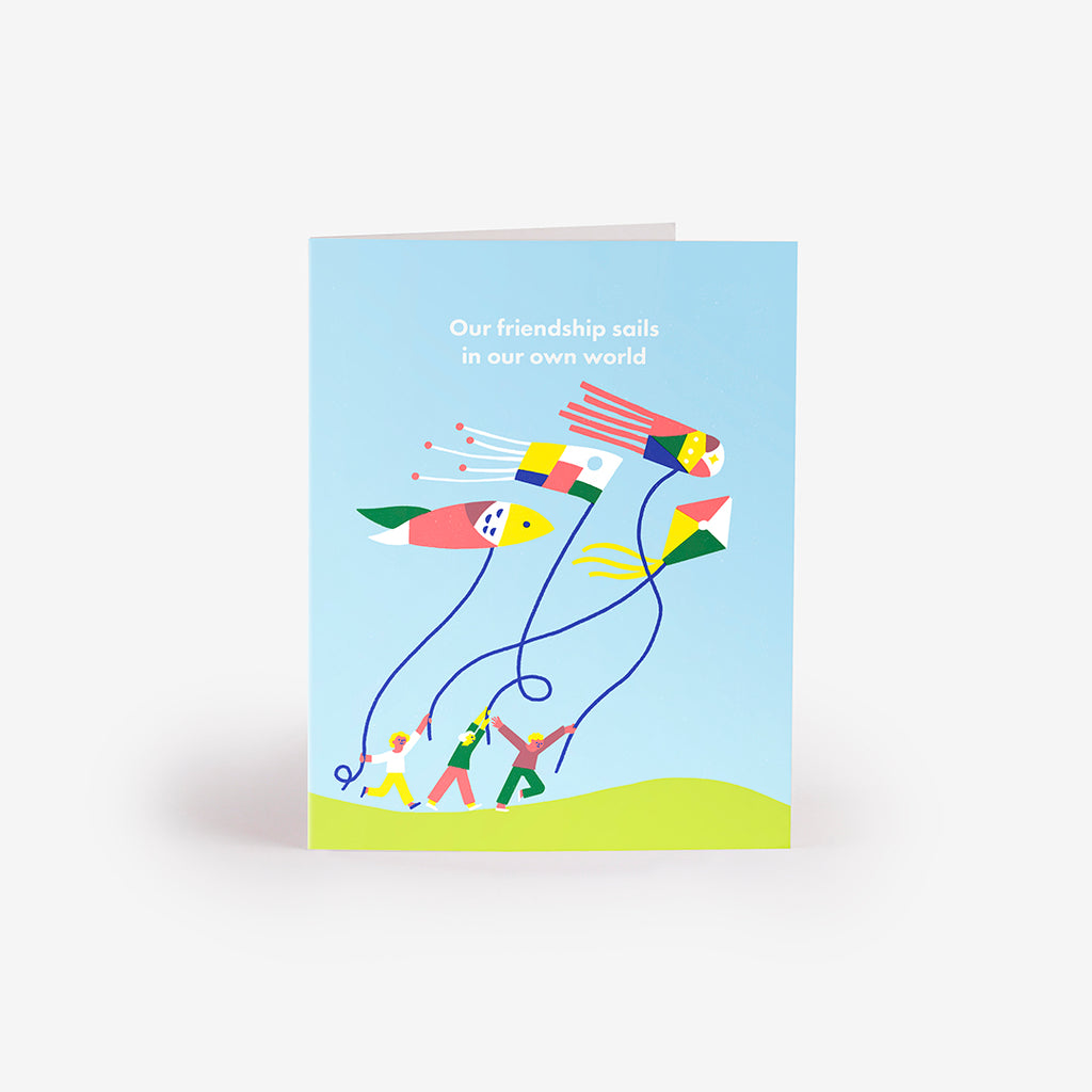 Running in the Wind Greeting Card
