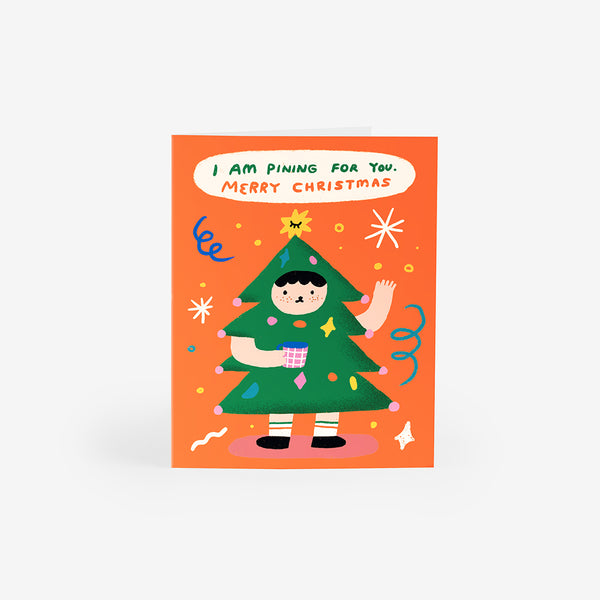 Costume Christmas Greeting Card