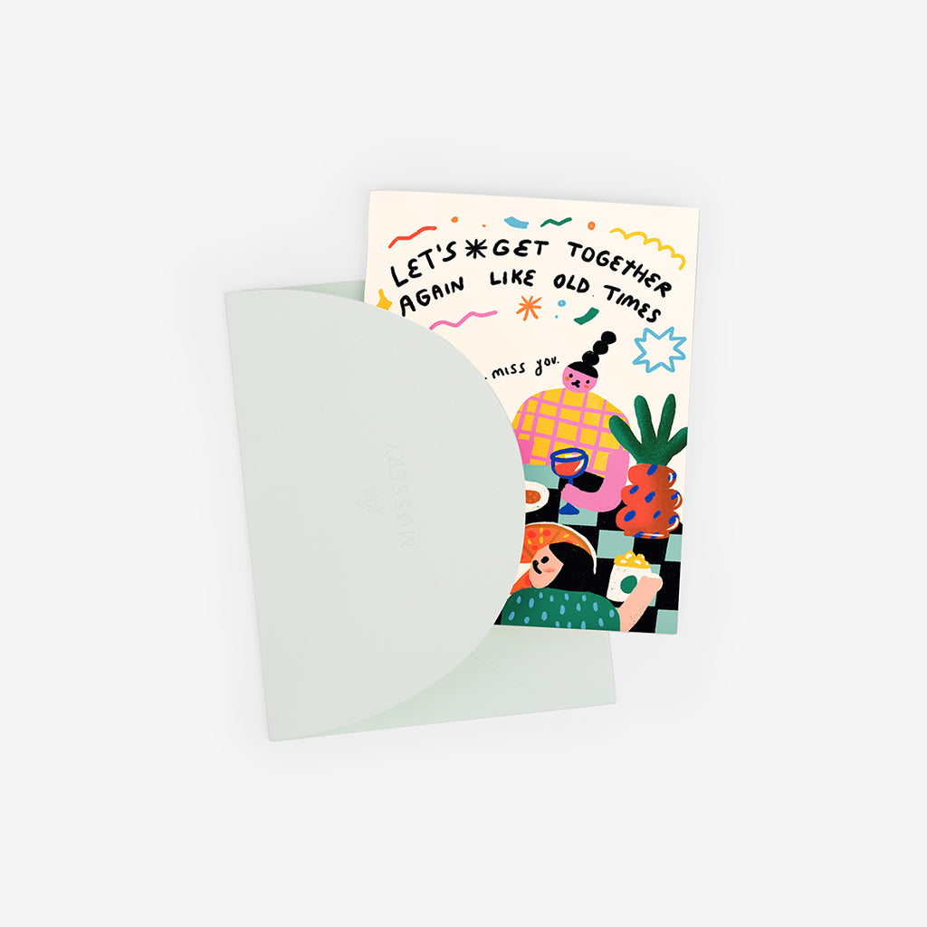 Evening Feast Greeting Card
