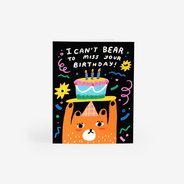 Birthday Bear Greeting Card