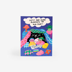 Blanket Fort Greeting Card