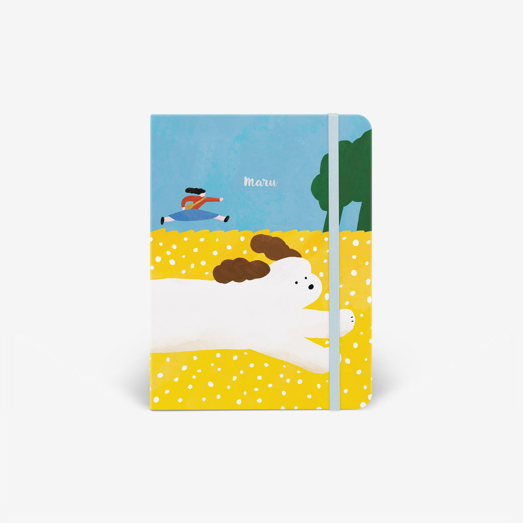 Dog Chase Wirebound Notebook