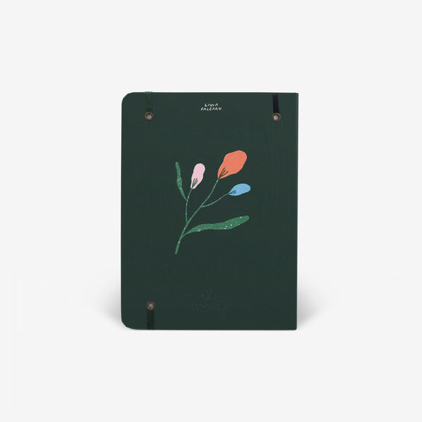 Flowerpiece Threadbound Notebook