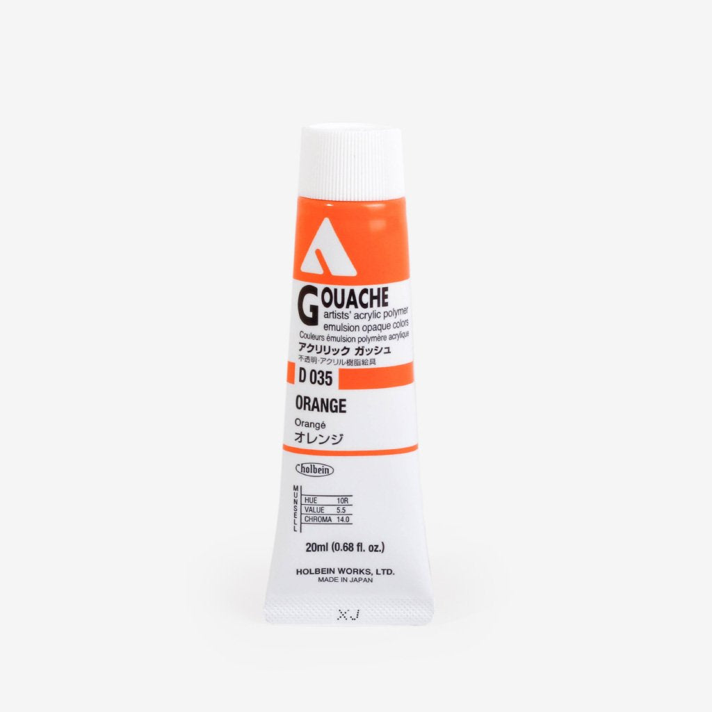 Holbein Acryla Gouache 20ml Tube - Orange