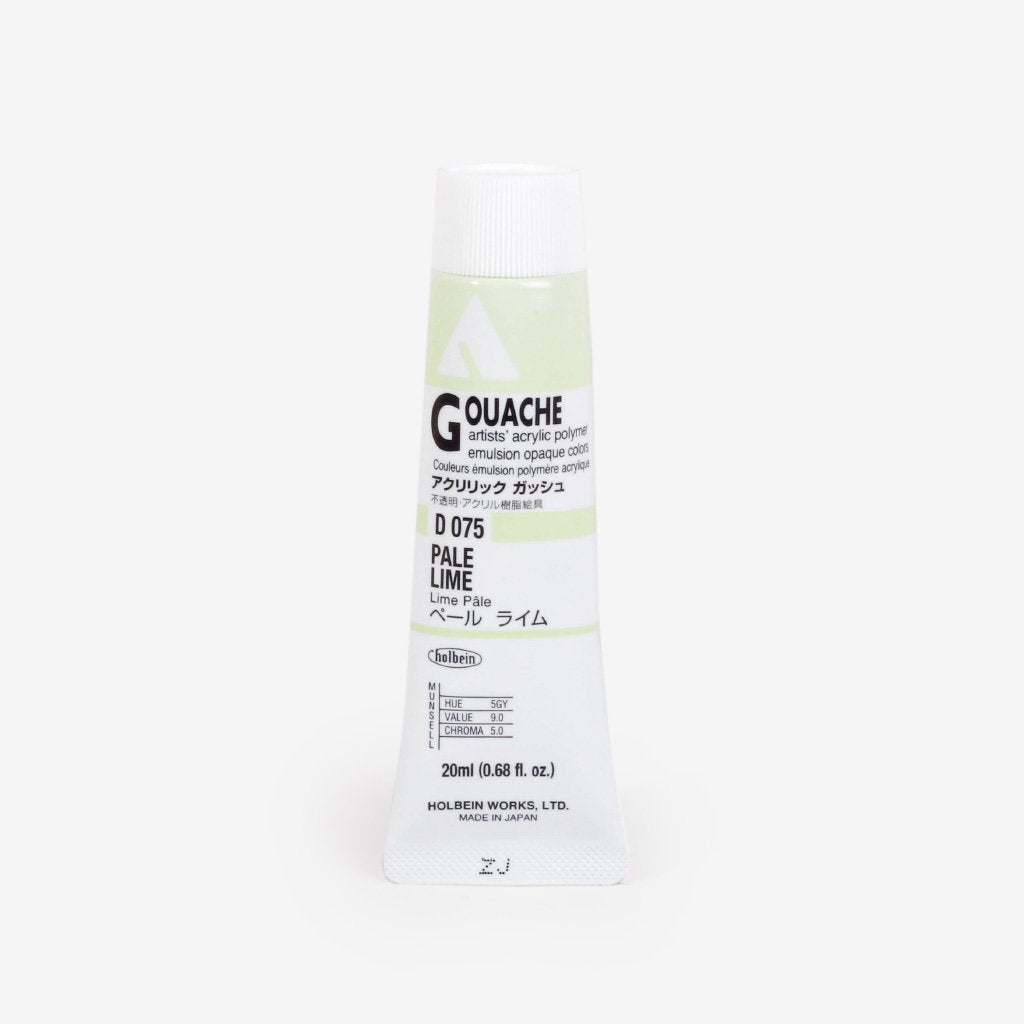 Holbein Acryla Gouache 20ml Tube - Pale Lime