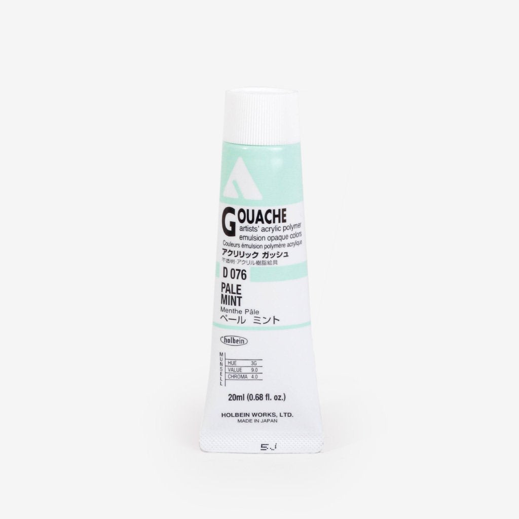 Holbein Acryla Gouache 20ml Tube - Pale Mint