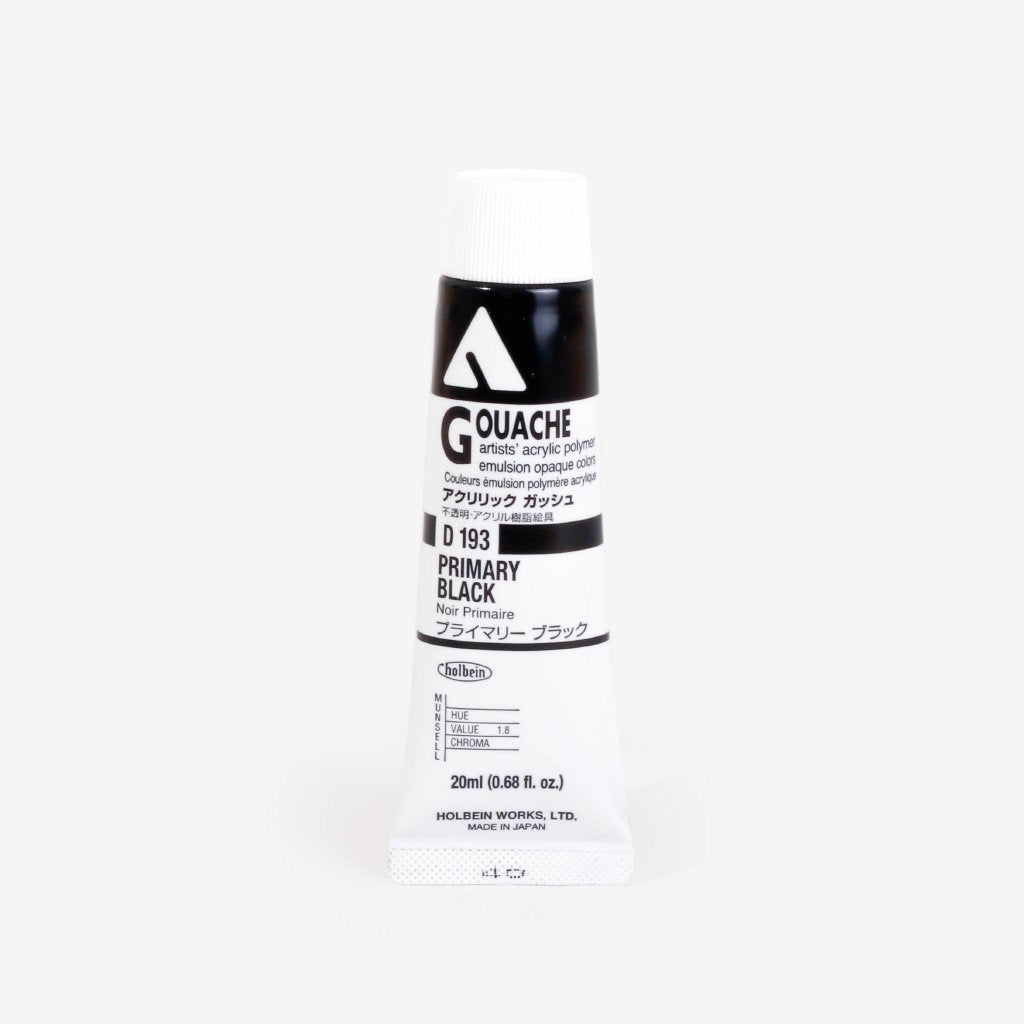 Holbein Acryla Gouache 20ml Tube - Primary Black