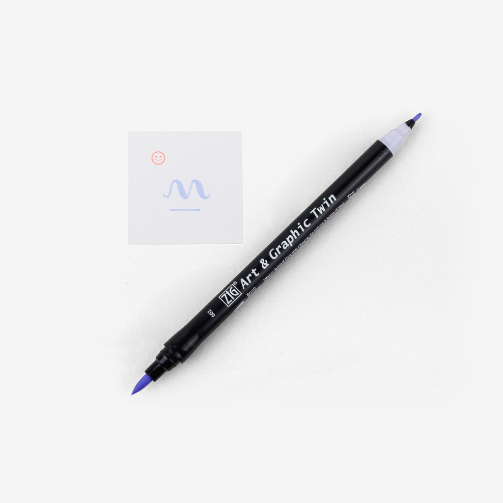 Kuretake Art & Graphic Twin Pen - English Lavender