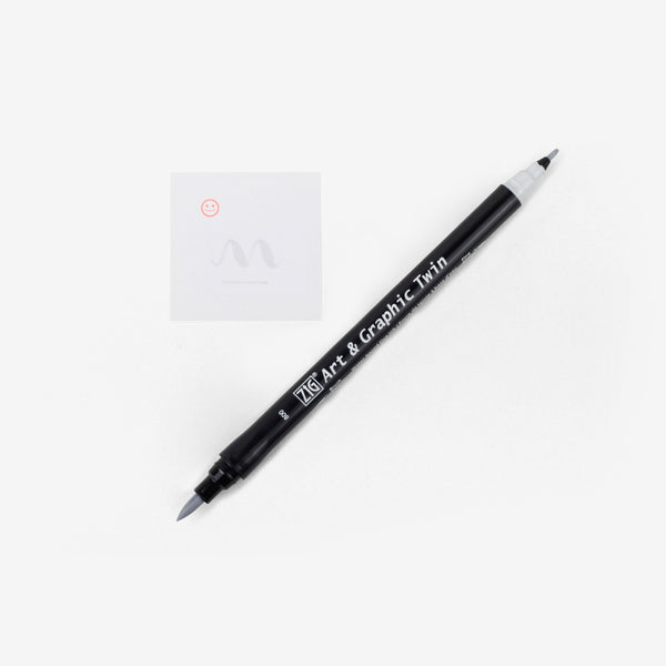 Kuretake Art & Graphic Twin Pen - Cool Grey 1
