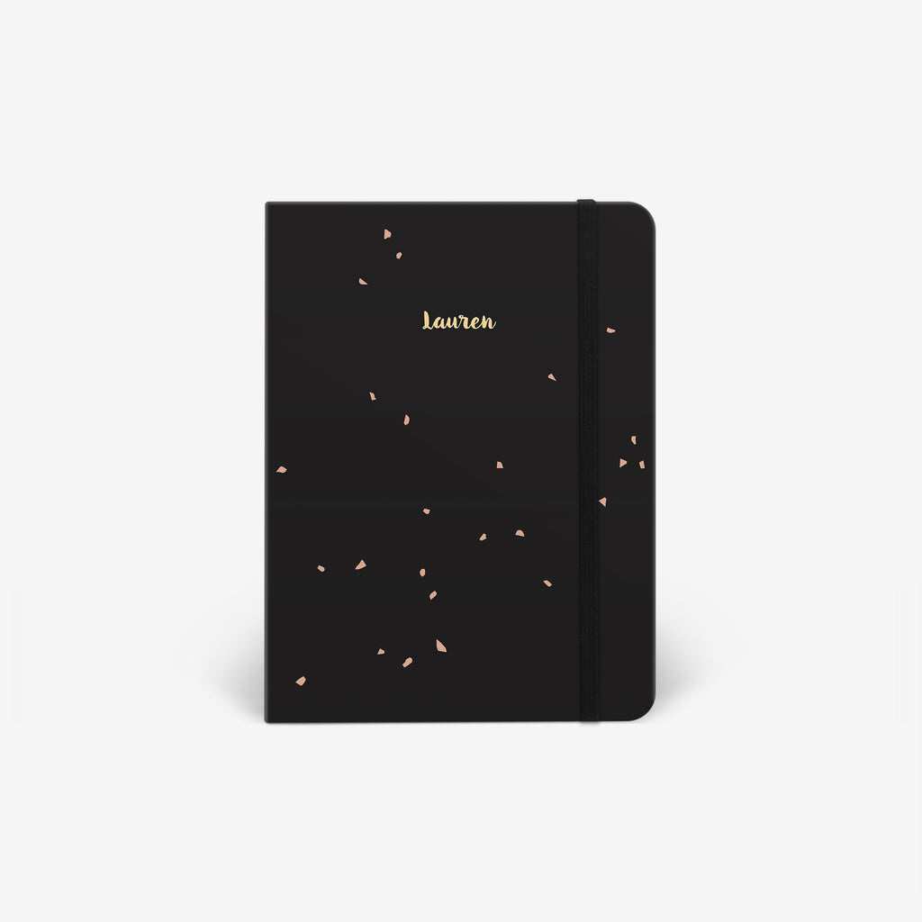 Black Speckle Light Threadbound Cover