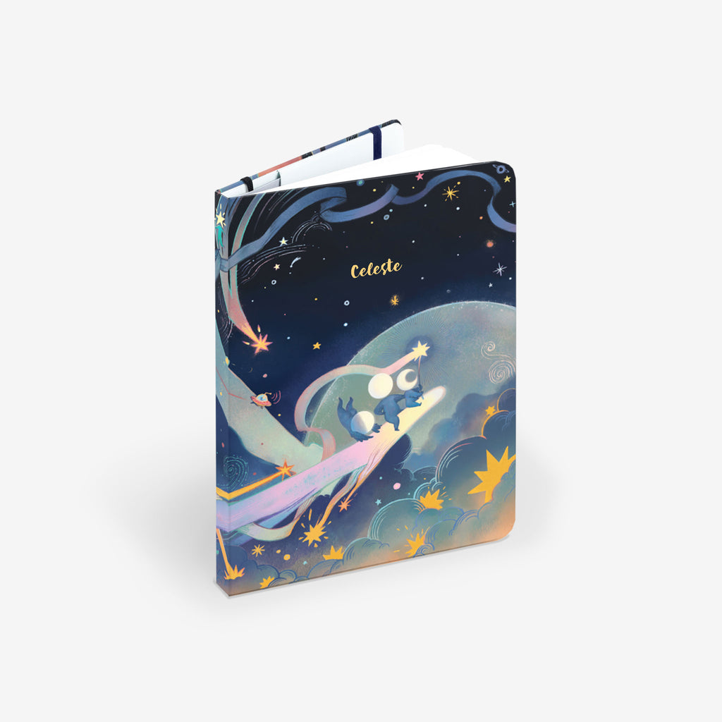 Cosmic Adventure Light Threadbound Notebook
