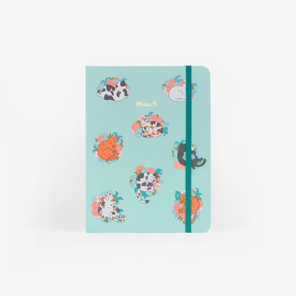 Blossom Cats Medium Threadbound Notebook