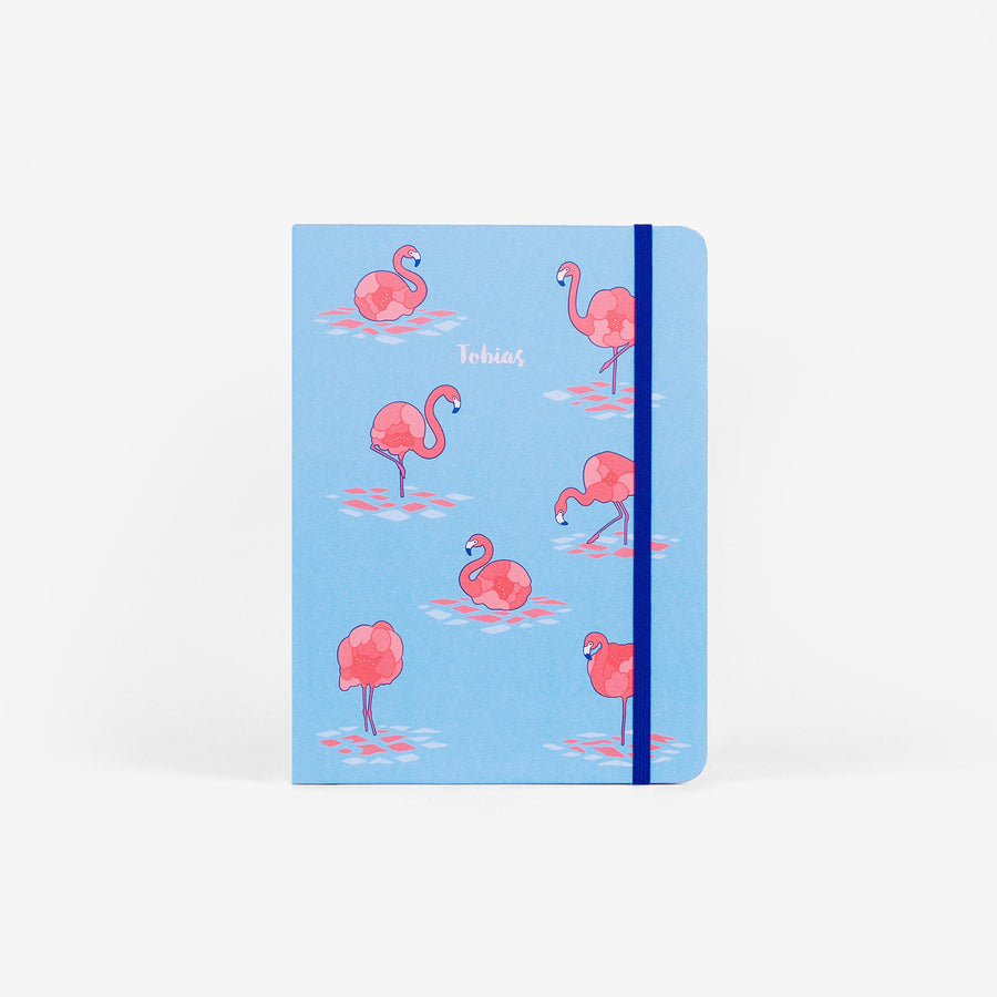 Flamingo Blue Wirebound Sketchbook