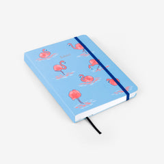 Flamingo Blue Threadbound Notebook