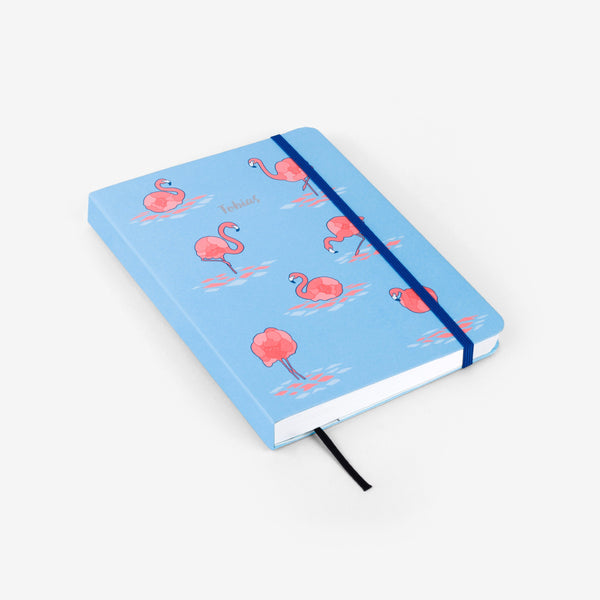 Flamingo Blue Medium Threadbound Notebook