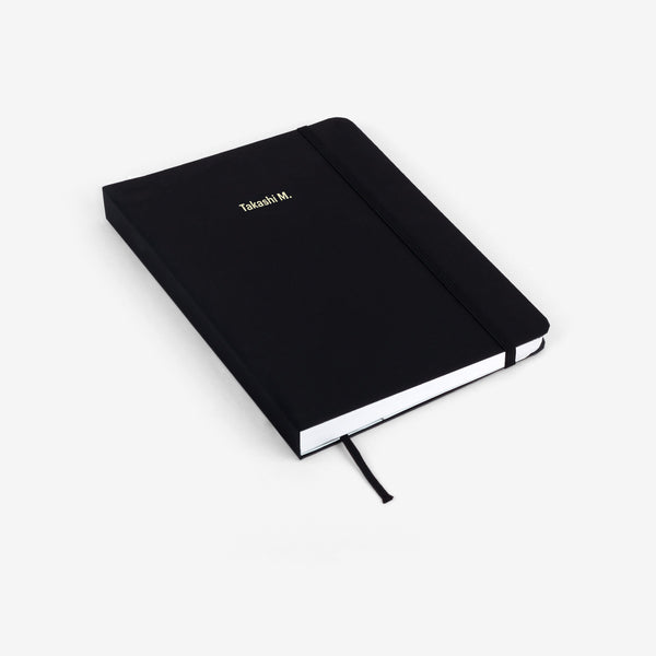 Plain Black Medium Threadbound Notebook