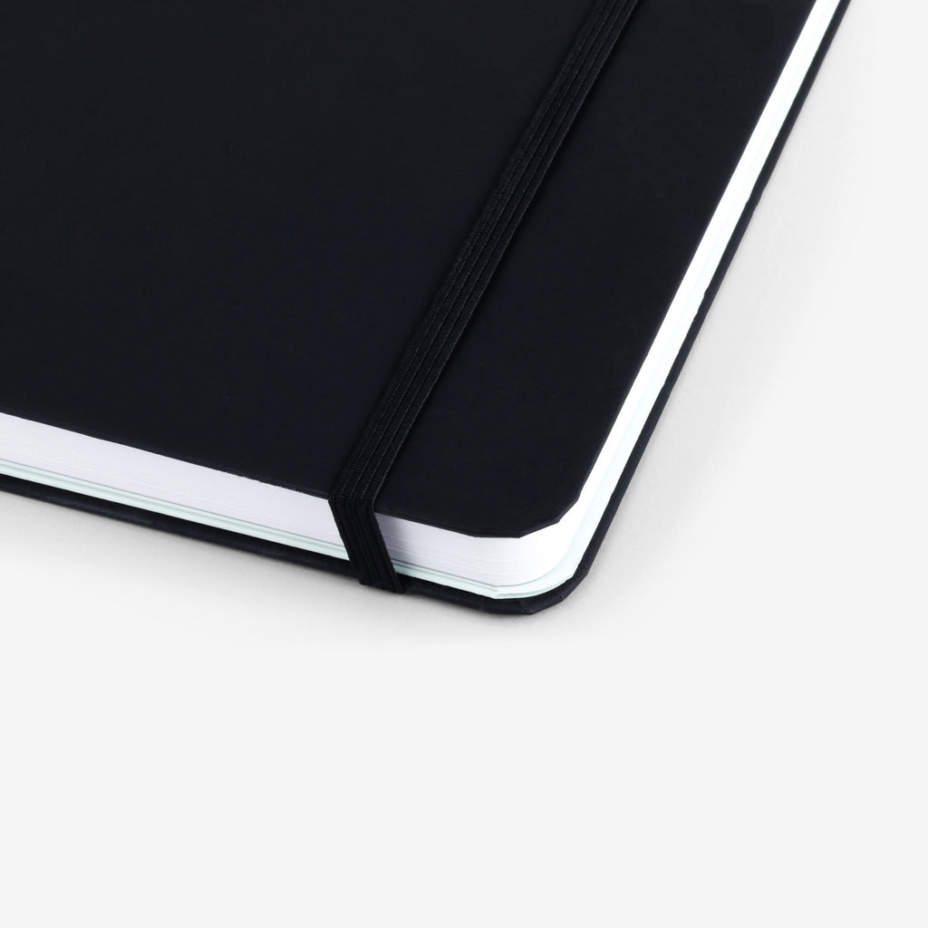 Plain Black Threadbound Notebook