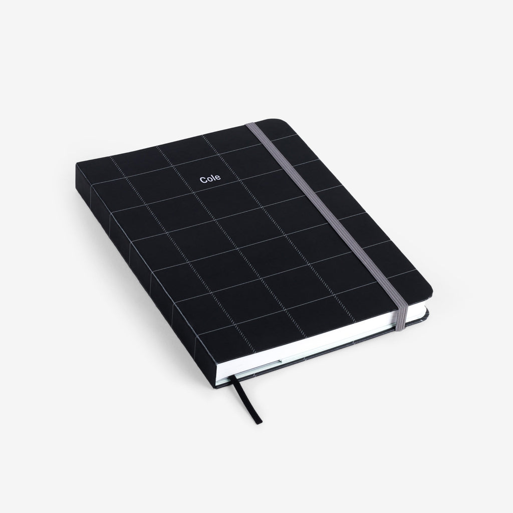 Black Plaid Threadbound Notebook