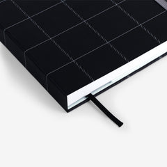 Black Plaid Undated Planner
