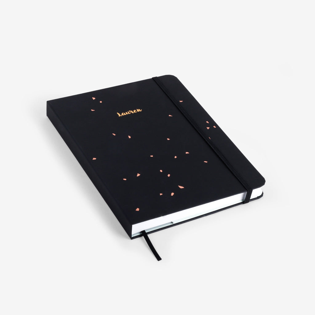 Black Speckle Threadbound Notebook