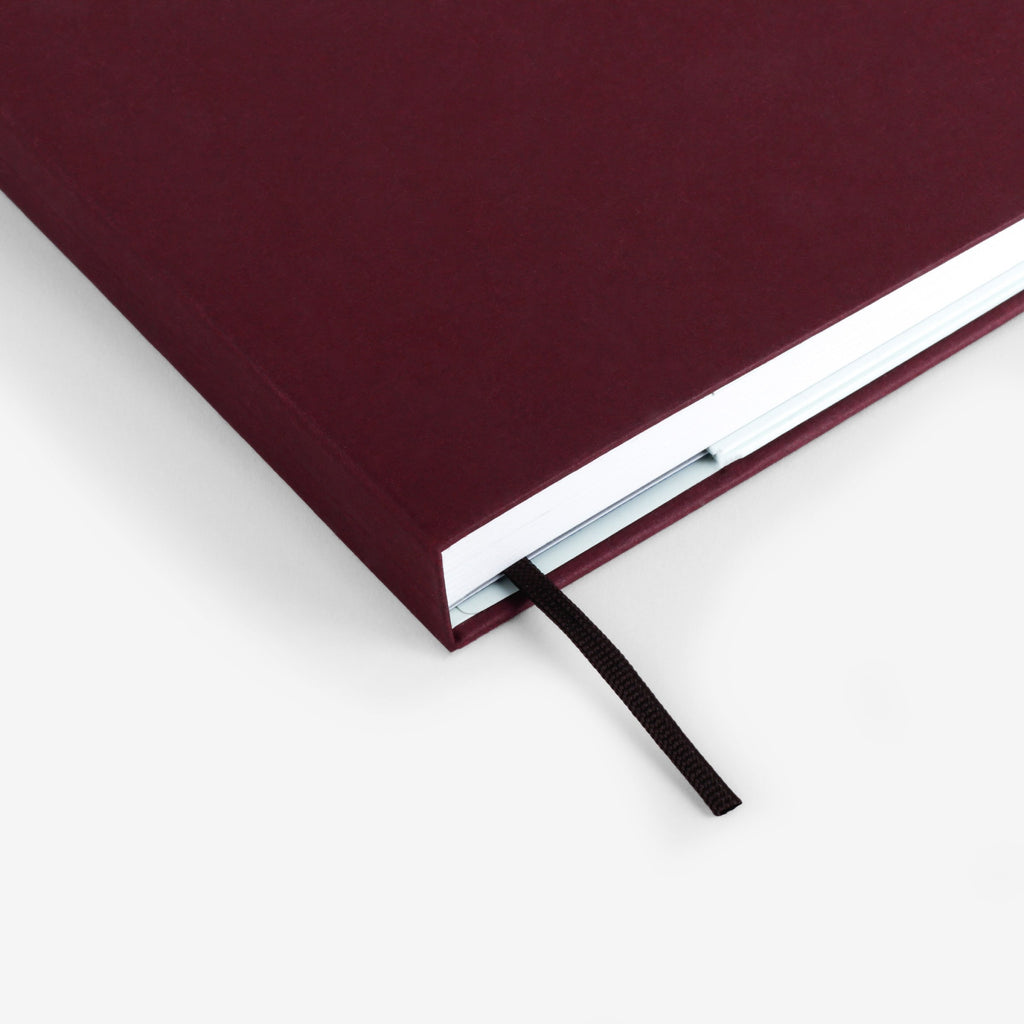 Plain Burgundy Threadbound Notebook