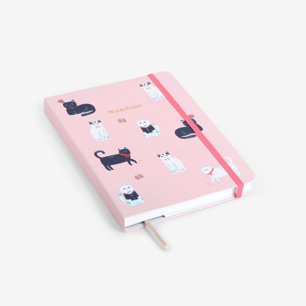 Cats Pink Threadbound Notebook