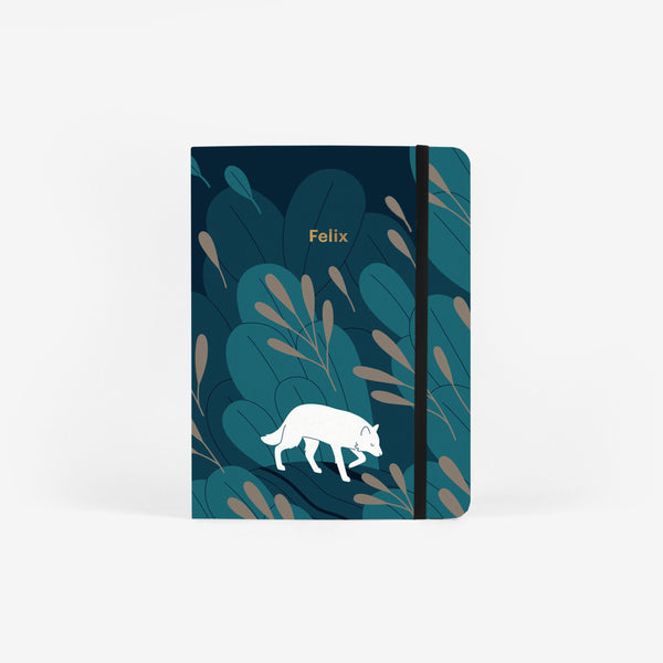 Night Wolf Medium Threadbound Notebook