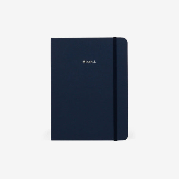 Plain Navy Threadbound Notebook