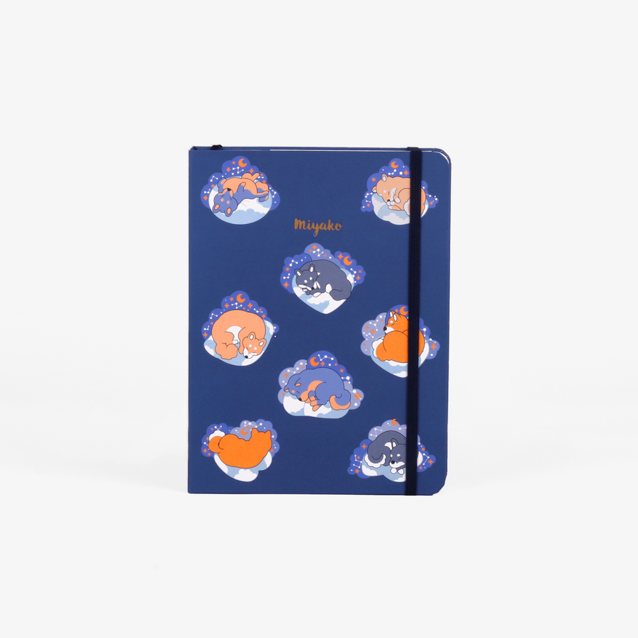 Sleepy Shiba Threadbound Notebook