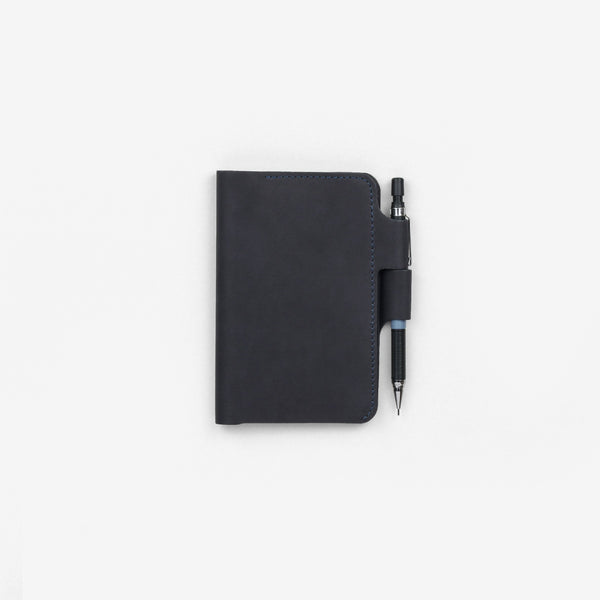 Navy Pocket Notebook Leather Sleeve