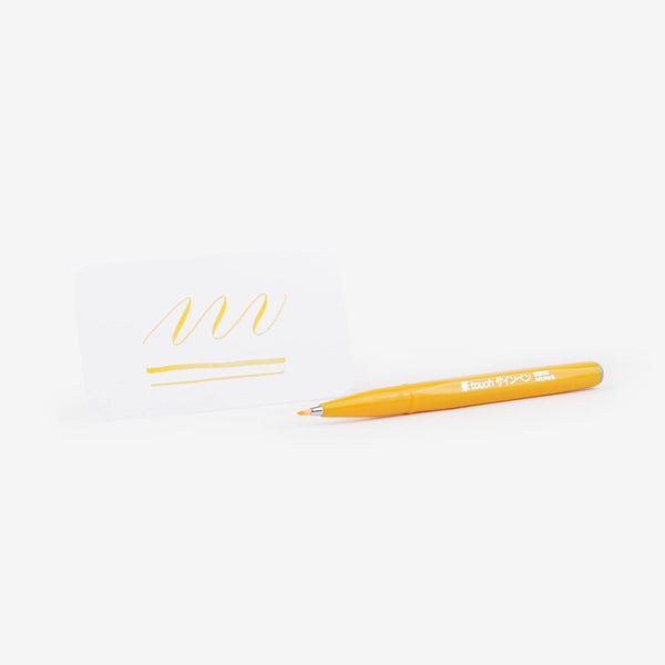 Pentel Fude Touch Brush Sign Pen - Yellow
