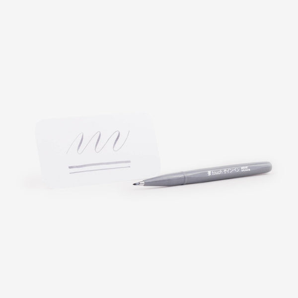 Pentel Fude Touch Brush Sign Pen - Grey