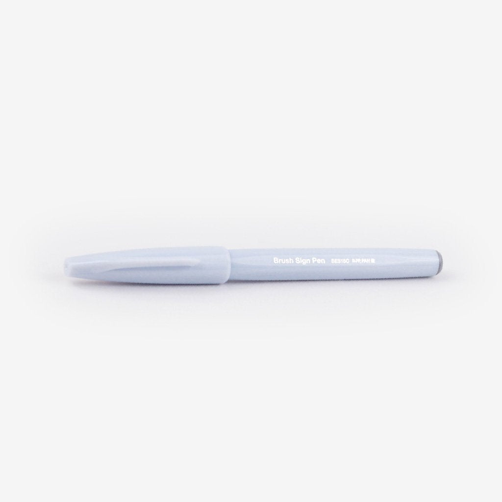 Pentel Fude Touch Brush Sign Pen - Light Grey