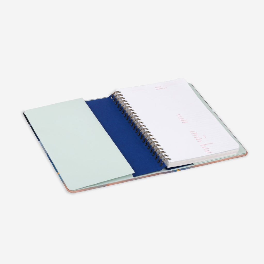 Plain Black Undated Planner