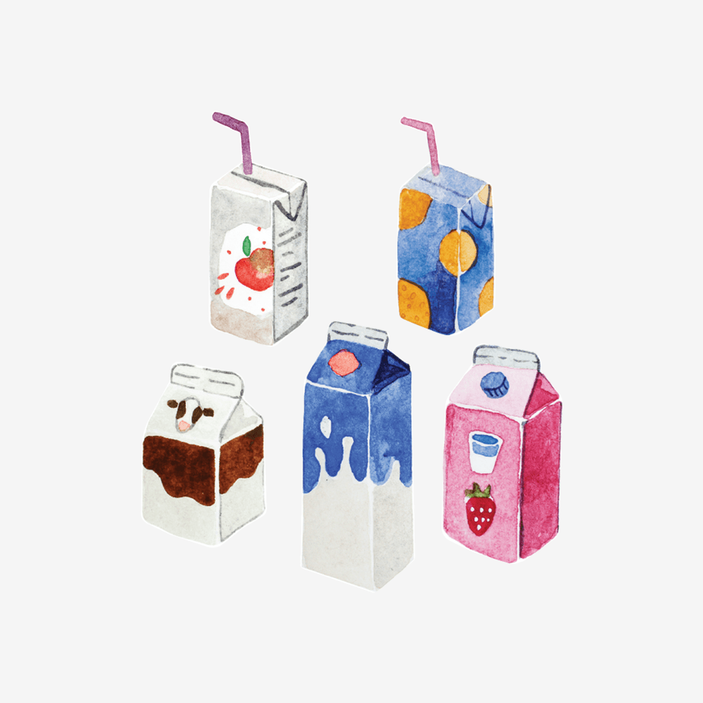 Artist Series Stickers: Carton Drinks (STC-503)