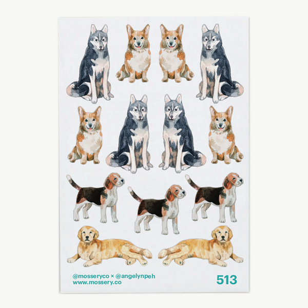 Artist Series Stickers: Dogs (STC-513)
