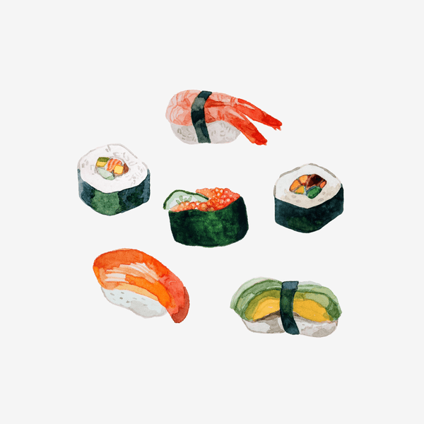 Artist Series Stickers: Sushi (STC-518)