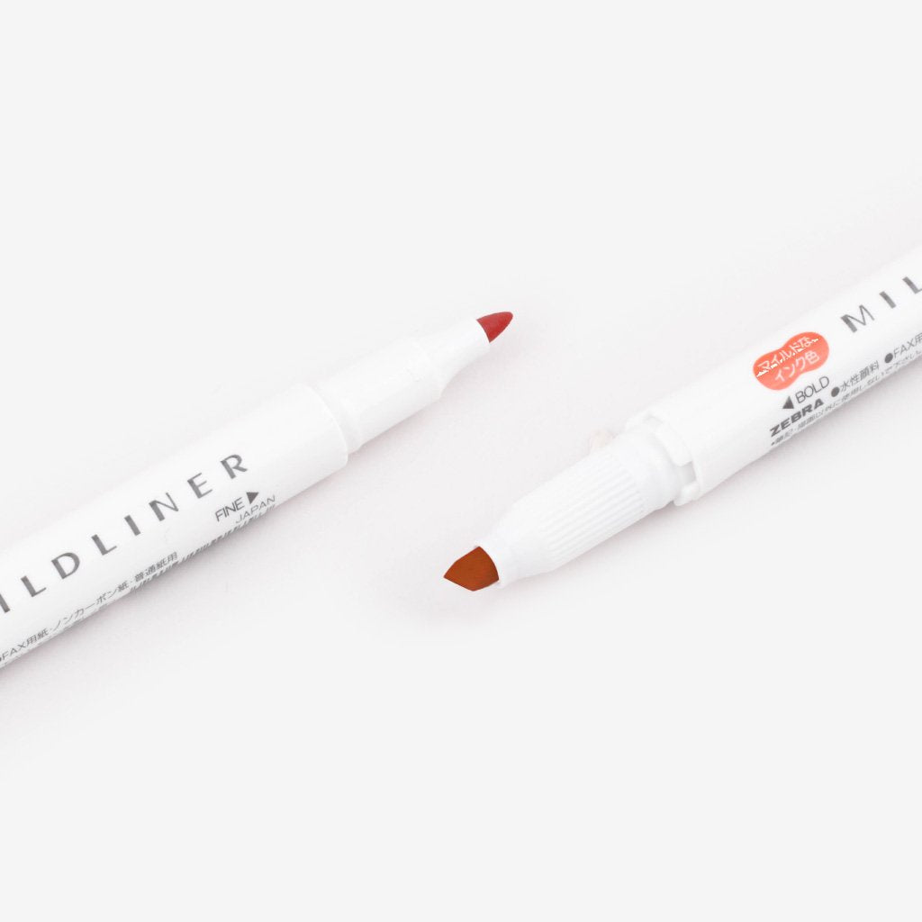 Mildliner Double-Sided Highlighter - Vermilion