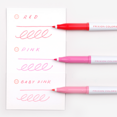 Pilot FriXion Colours Erasable Marker - Pink