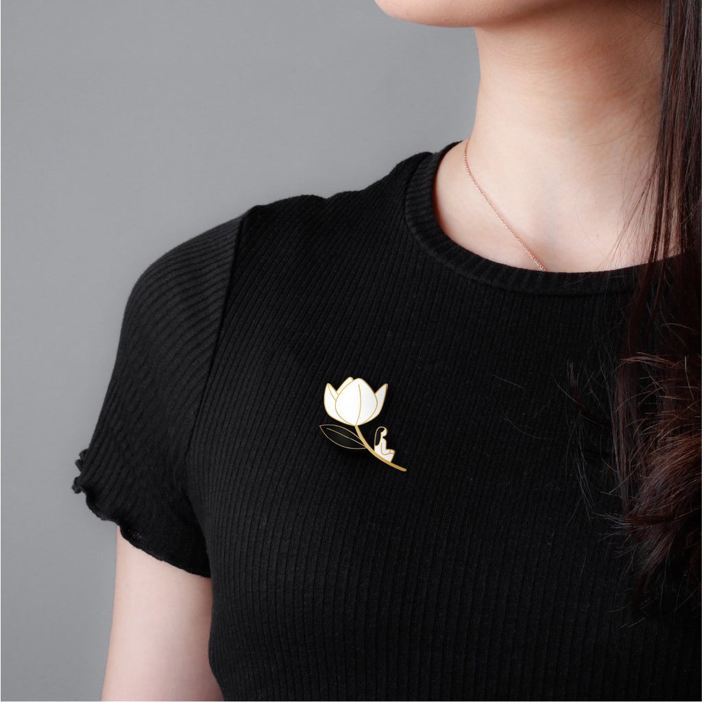 Tulips Enamel Pin