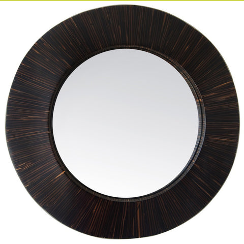 Black Carillo Round Mirror