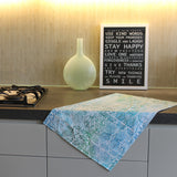 Pips Tea Towel - Aqua
