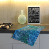 Pips Tea Towel - Navy & Aqua