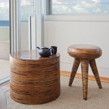 Samara Stool - Rattan & Palm Twig